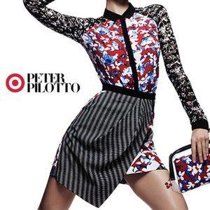 Peter Pilotto x Target faux wrap printed skirt